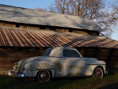 Aging together (judi berdis) Tags: barn antiquecar rusty willits littlelakevalley