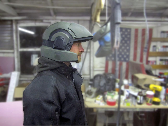 Trevor Tries on Marine Helmet