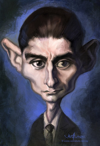 digital sketch study of Franz Kafka - 3a
