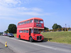 AEC Routemaster (PD3.) Tags: park bus london buses downs coach open top transport royal racing surrey topless routemaster races derby epsom topper grandstand psv pcv rm aec 1324 investec epsomdowns 2011 852 uxc rm1324 852uxc