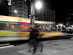 Bus (Ana MD) Tags: plaza bus night lights luces noche calle movement gente pedestrian movimiento bizkaia vasco euskalherria euskadi vizcaya larga acera autobs pasvasco exposicin nocturn paviment peatones pas largaexposicin moyua transeuntes longexpossure bizkaibus