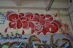 Aerub (leftcoastletters) Tags: seattle streetart graffiti washington wa spraypaint aerosol westcoast sodo throwup aerub throwy freewall