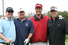 Todd Hansen, Mike Conger, Jeff Diltz, and Pro Footballer Rick Mirer
