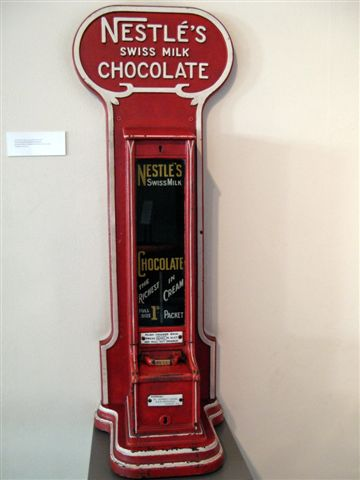 vintage Nestle chocolate vending machine