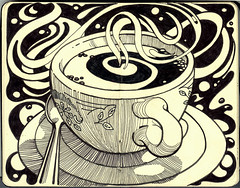 coffee! (susanrudat) Tags: morning bw art moleskine coffee breakfast sketching sketchbook caffeine impressedbeauty