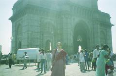 Enter India- Gate of India (Jennifer Kumar) Tags: bombay mumbai negativescan gateofindia india1998
