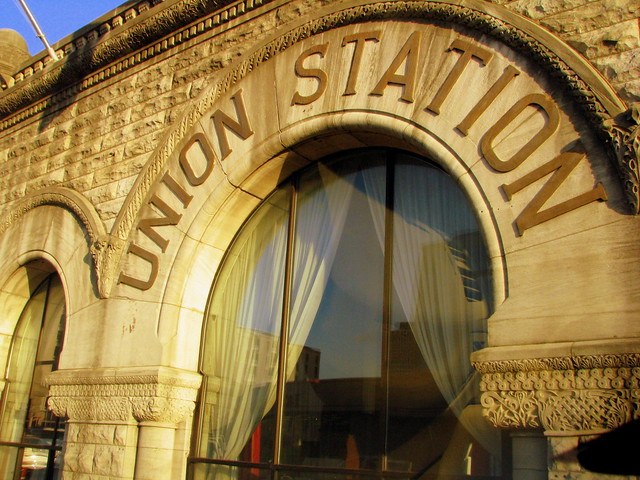 Union Station's broadway window