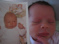 Eliara with baby pic of daddy