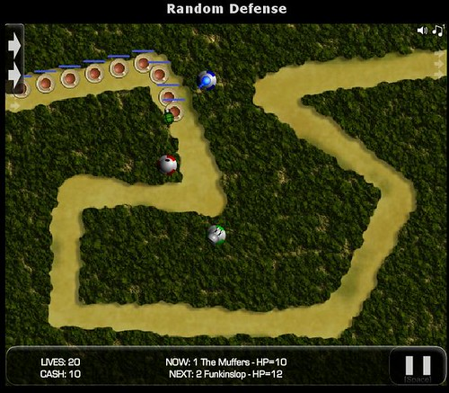 Random Defense, a Tower Defense screenshot 2 taken from ITCH