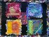 Four seasons (Karen Cattoire) Tags: original abstract art handmade embroidery originalart creation fabric fiberart textileart tissu abstrait textiledart karencattoire fibretextile arttexilte