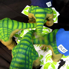 Tickle Me Pleo (jurvetson) Tags: toy robot geek dinosaur weekend stroke cuddly randy faire maker robopet makerfaire pleo circlejerk