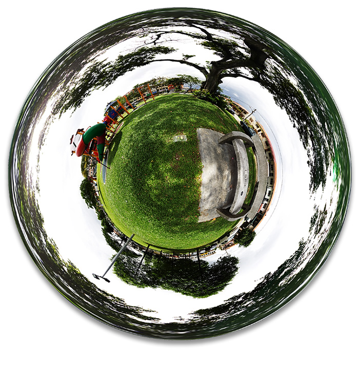 Section 5 Playground in Little Planet Projection