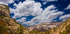 (chatursunil) Tags: park panorama clouds echo canyon national zion