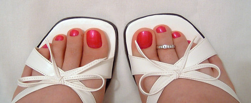Pedicure with Jam 'N Jelly nail polish