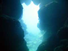 Cathedral Cave (Can't Equalize) Tags: ocean sea scuba diving atlantic cave bermuda reef