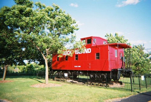Rock Island caboose on display. Tinley Park Illinois. June 2008. by Eddie from Chicago