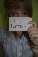 Life Happens. (Ally Newbold) Tags: life portrait selfportrait slr me girl digital self canon lookin allison photography rebel photo picture stupid killa meh happens xti