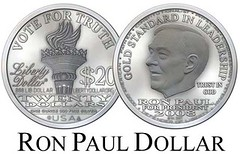 Ron Paul Liberty Dollar 50p