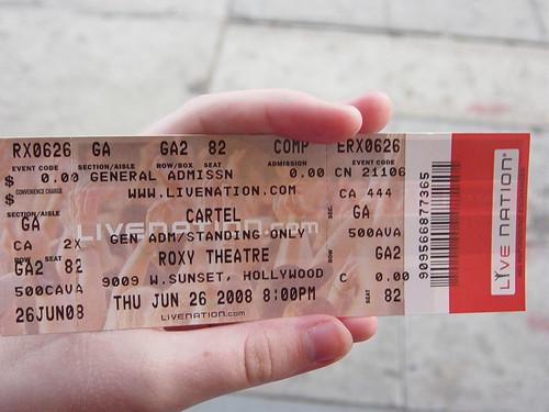 Ashley's ticket