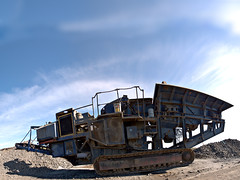 Machine (Jan Egil Kristiansen) Tags: machine heavymetal roadconstruction autopano froyar hoyvk millumgilja handheldpanorama sphericalprojection p7060186 veiarbeide pukkverk