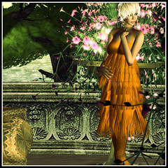 Toscana (VP Style) Tags: life summer orange woman fashion model dress sl second toscana freda