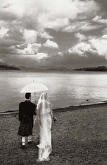 The-Happy-Couple (laurad360) Tags: beach umbrella bride kilt veil marriage happycouple weddingday beachwedding newlyweds blackandwhitephotography scottishwedding parasole weddingphotography traditionalwedding scottishloch unusualwedding lakesidewedding lookingoverthelake lochsidewedding shorewedding
