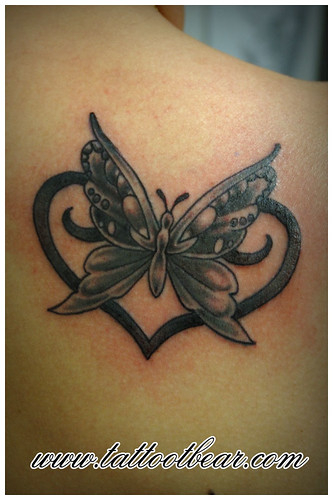 butterfly vlinder by tattoo t-bear