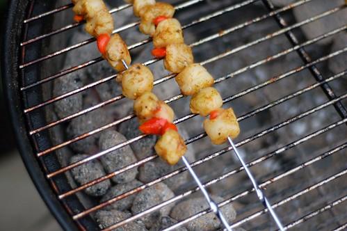 BBQ scallops