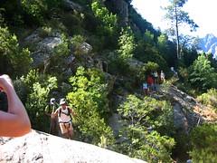 Sur le sentier du Purcaraccia : Victor et François passent la surmultipliée
