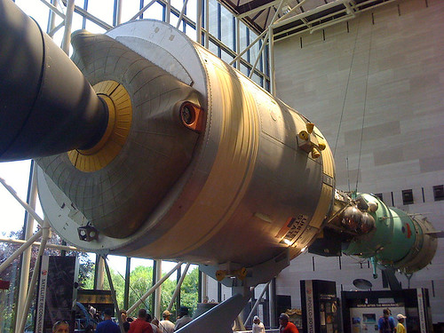 Apollo-Soyuz in the Air & Space Museum, Washington DC - Taken With An iPhone