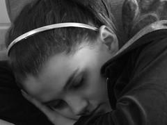 Caught Napping (Wurzel) Tags: sleeping blackandwhite bw girl child candid bex asleep