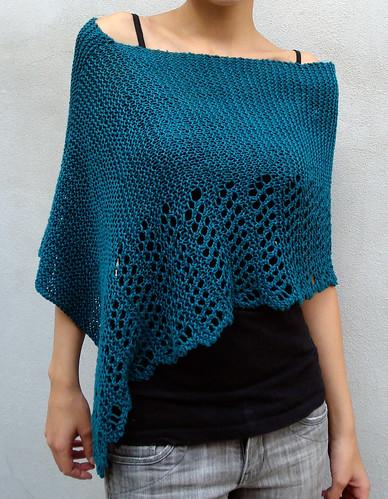 Cool Hemp Ponchette, Knit with Allhemp6Lux