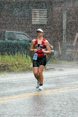 downpour (Ben Kimball) Tags: woman rain run ironman triathlon downpour triathlete kelby drench
