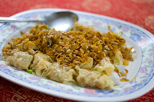 Wantons, Jok restaurant, Bangkok
