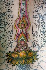 kk's new tattoo (Robert Scales) Tags: flower tattoo thailand lotus nirvana bamboo hardcore kriskrug kk pathtonirvana