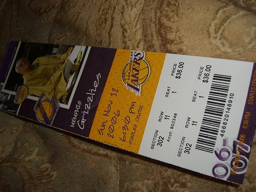 Lakers game.