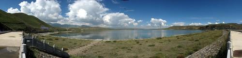 Lake east of Xihai, Qinghai Province, China
