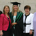 Richie, Leanne, Clare and Patricia Watson with Jean McIlhone attend UUJ Graduation ceremony at the Waterfront Hall.