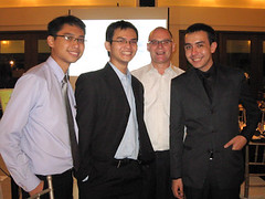 Ateneo Debate Society (ADS) alumnus Glenn Tuazon, ADS President Miko Biscocho, KAS Country Representative Klaus Preschle, Australs Lead Convenor David Loughran