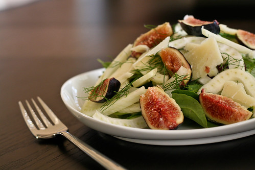 fennel & fig salad | 10-minute honey mustard chicken