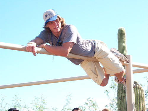 Joe Bitar monkeying it out at Desert Museum, Tucson, AZ