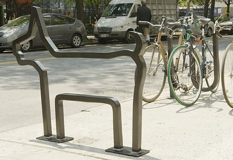 Cool Eco-friendly artsy bike racks in NYC