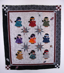 indian girls quilt