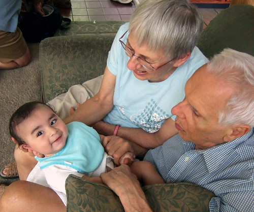 Oliver with grandparents