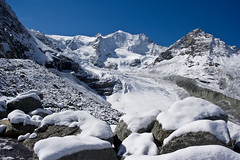 Glacier de Moiry in the snow (Le Vichiesso, Switzerland) Photo