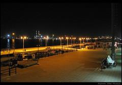 Portsaid At Night. (Ayman Abu Elhussin) Tags: new light sea black night port canon wonderful egypt powershot portsaid 2008 orang a640 portsaidegypt elitephotography