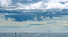 Kayaks (Nad) Tags: ocean sea sky clouds island scotland clyde kayak waves paddle row sparkle firth ailsacraig creagealasaid