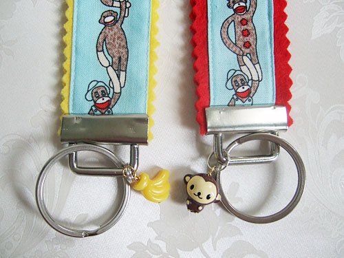 Sock Monkey keyrings