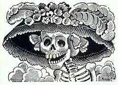 """""""La calavera catrina"""" by José Guadalupe Posada"""
