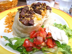 my steak burrito without beans (Scuzzi) Tags: red dinner yummy delicious mexican cheesy